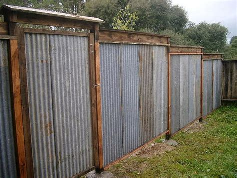 recycled corrugated metal fence lush planet design