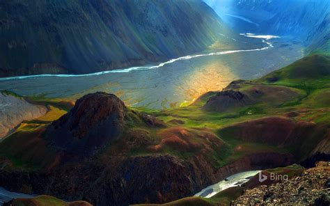 himalayan mountain  river landscape  bing preview