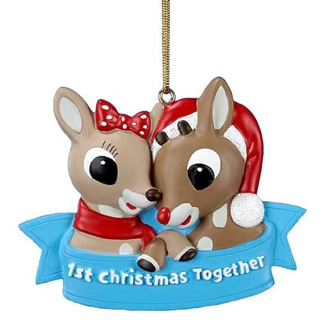 rudolph the red nosed reindeer 1st christmas ornament