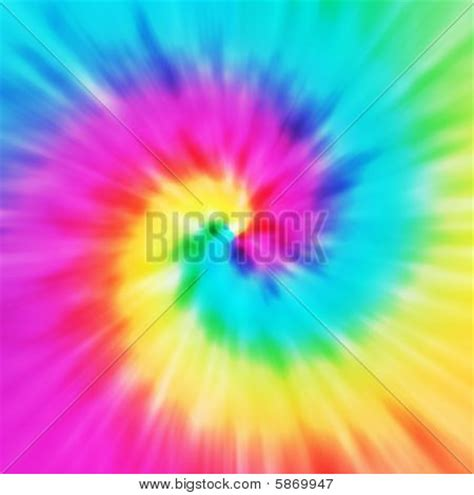 Picture Or Photo Of Realistic Spiral Tie Dye Illustration In A Variety Of Colors Tie Dye Powerpoint Template