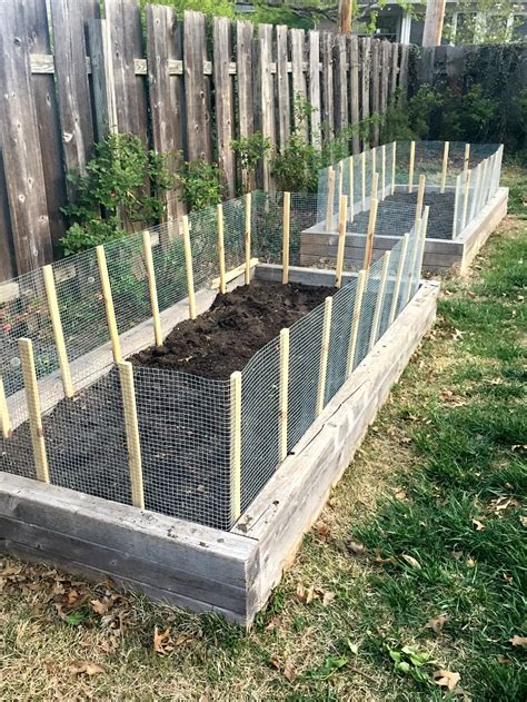 raised garden bed with fence urban acreage diy fence for raised garden beds