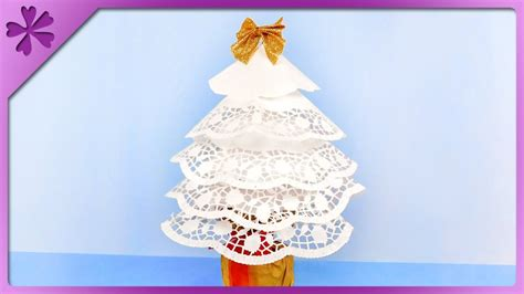 how to makeacheistmas tree stau up diy how to make tree out of paper doilies eng subtitles speed up 434