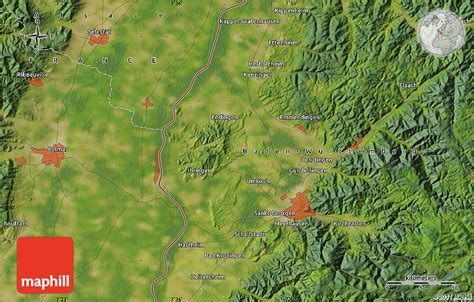 germany satellite map satellite map of bad krozingen