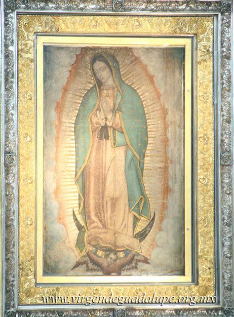 imagen de la virgen de guadalupe que esta en la basilica imagenes sagradas de la virgen de guadalupe en m 233 xico y de