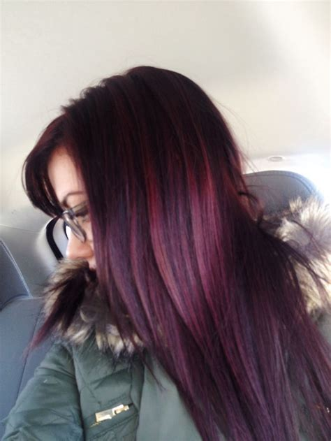 burgundy plum hair color with a base in 2016 amazing