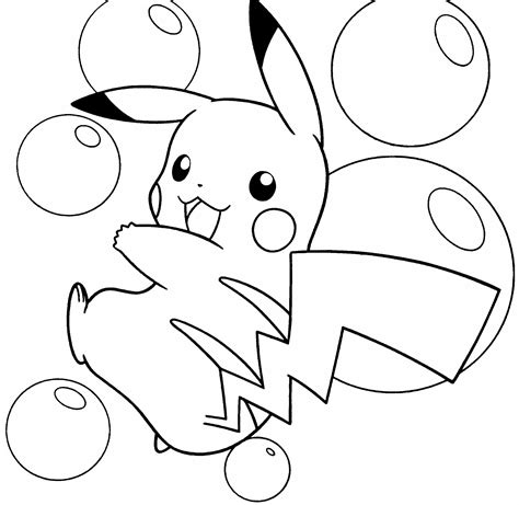what color is pikachu free coloring pages of pikachu