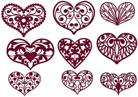 cutout hearts vectors   vectors