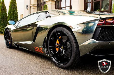 black chrome lamborghini black chrome aventador by vogt folientechnik 95 octane