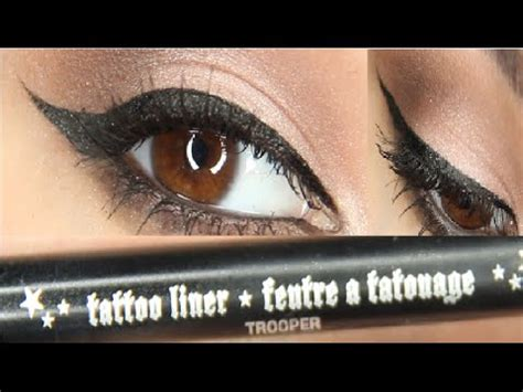 kat von d tattoo liner trooper winged eyeliner tutorial ft d liner in
