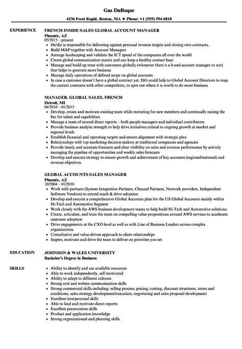 Global Account Executive Sle Resume by Global Account Manager 4 Primary Performance Objectives Of A Global Key Account Manager Global