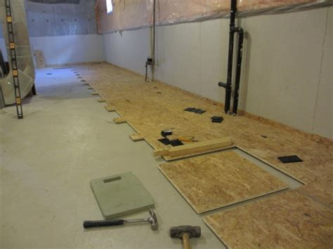 basement bathroom subfloor aggroup inc o neil basement dricore subfloor