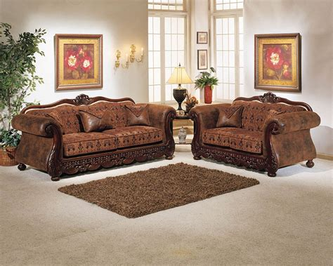 classy sofa set 2 piece brown elegant sofa set
