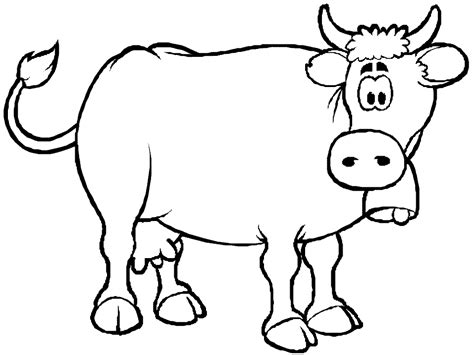 cute cow coloring pages coloring home