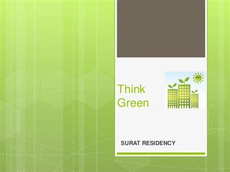 Surat Residency Green Building Concept Ppt Green It Concept Ppt