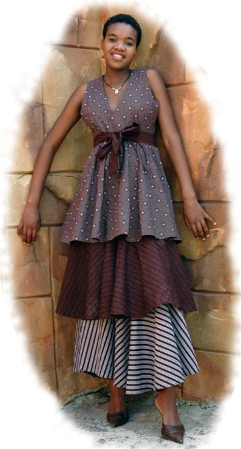 Wst 7268 Ethnic Dress Brown 317 best images about shweshwe fashion for on