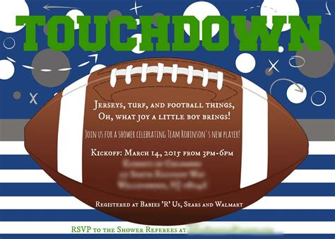 Football Baby Shower Invitation Template Football Themed Baby Shower Shipwrecked On Fabulous Island