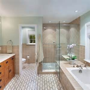 Ballard Designs Reviews master bath layout glass shower enclosed toilet and