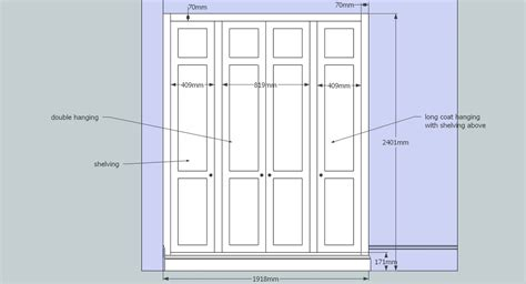 Wardrobe Design Dimensions by Design Drawings In 3d By Henderson Furniture