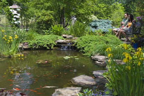 make your garden looks amazing by constructing fish ponds design home design ideas