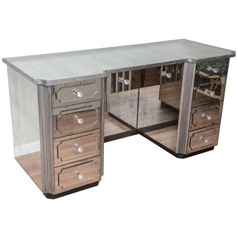 Mirrored Vanity Table Superb Mirrored Dressing Table Or Vanity With Nine Drawers For Sale At 1stdibs
