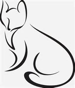 Fox Outlines by Beginner S Mind Kitsune The Fox