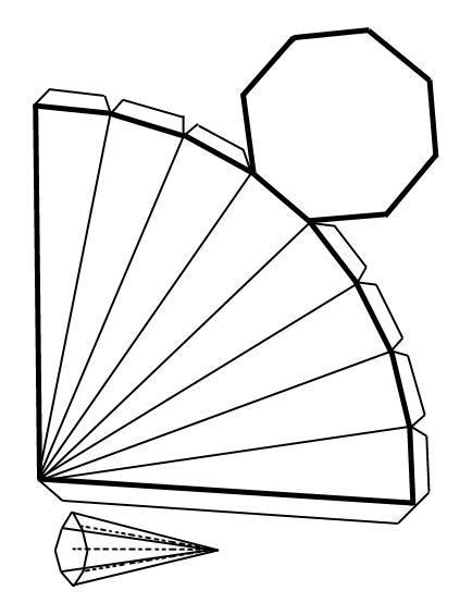 figuras geometricas recortables recortables de figuras geom 233 tricas piraoctagono