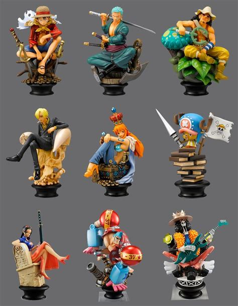 Fc Chibi Set Crew Mugiwara Luffy Figure One Pop Fzo straw hat crew mugiwara luffy sanji zoro chopper