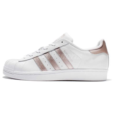 Original Made In Indonesia Adidas Superstar Rosegold adidas originals superstar w white gold classic shoes sneakers ba8169 ebay