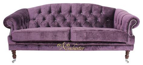 aubergine velvet sofa victoria 3 seater chesterfield swarovski crystals elegance