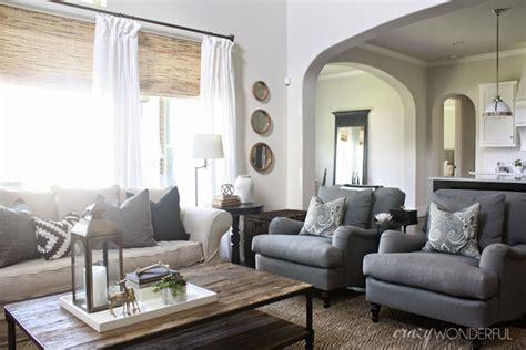 pottery barn carlisle living room updates crazy wonderful