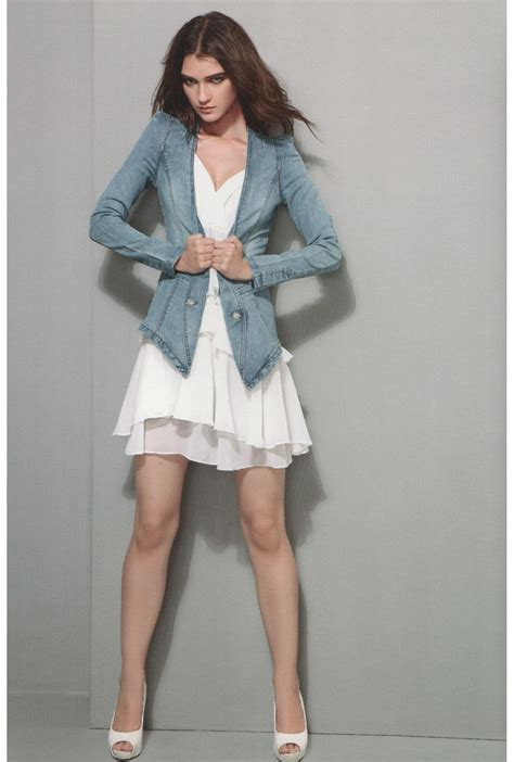 Best Denim Chiffon Dress chiffon dress denim jacket flirt
