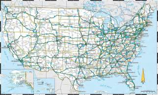 large detailed highways map of the us the us large