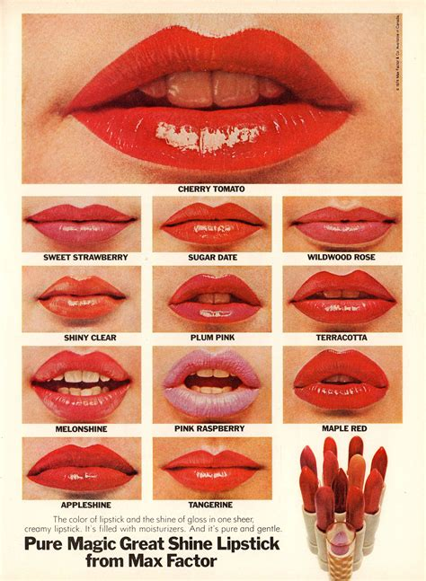 Best 1960s Looking Matte Lipsticks | high gloss and hot pink lipstick adverts from the 1960s