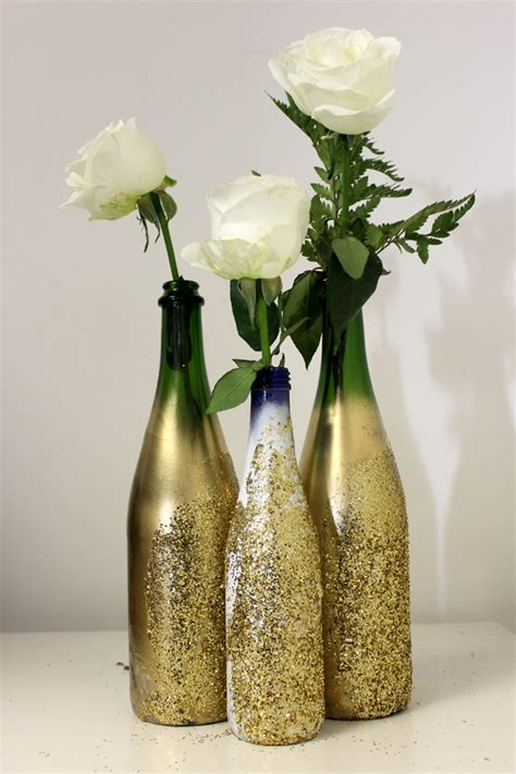 simple new year decorations diy diy glitter vase for nye petal talk