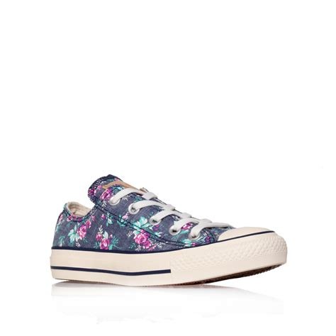 Converse Ct Low White 1 lyst converse ct floral low in blue