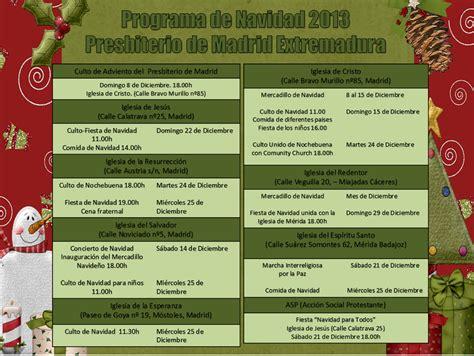 programa de navidad programa de navidad 2013 presbiterio de madrid y