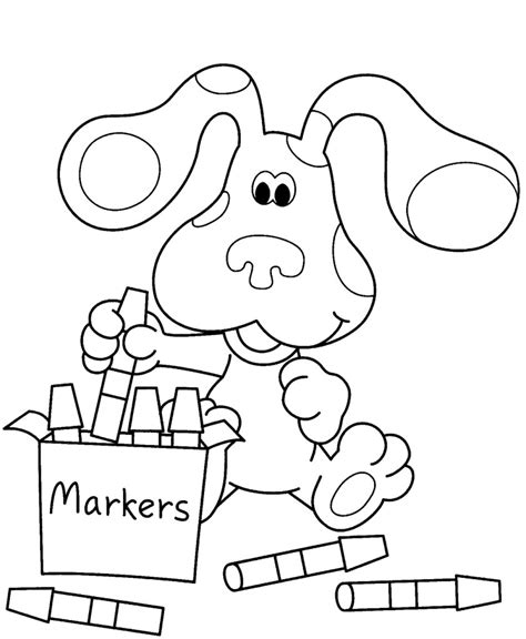 Blues Clues Coloring Page free printable blues clues coloring pages for