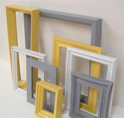 yellow and grey home decor picture frames by yellow and grey home decor picture frames modern wall