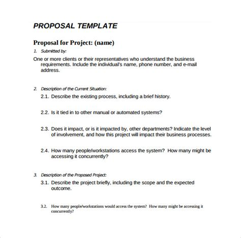 simple rfp template word sle simple 6 documents in pdf word