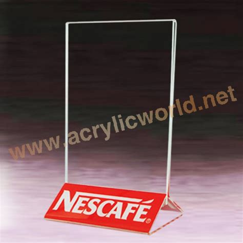 Acrylic Name Table acrylic sign holder desk label name plates holder paper