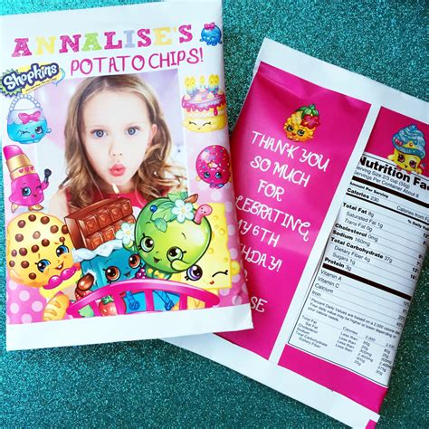 Custom One Of A Bags Chip by Shopkins Favor Bags Custom Potato Chip Bags By Pssprints