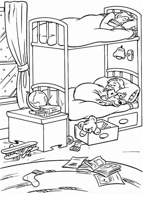 coloriage chambre coloriage de chambre a coucher