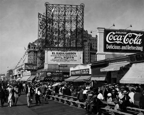 atlantic city boardwalk coca cola sign vintage 1920s 8x10