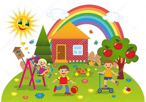 imagenes de niños jugando en verano ni 241 os jugando al aire libre en verano foto de stock