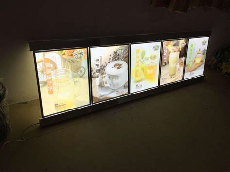 light boxes for photography display 2018 5 x posters led menu board display system