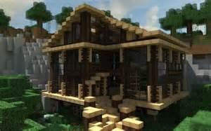 modern cabin in the woods in minecraft minecraft