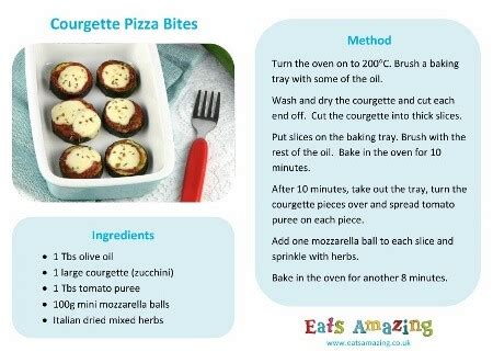 free printable easy recipes courgette zuccini pizza bites eats amazing