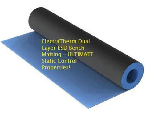 anti static bench mat roll heat resistant esd mat for bench tops and table tops