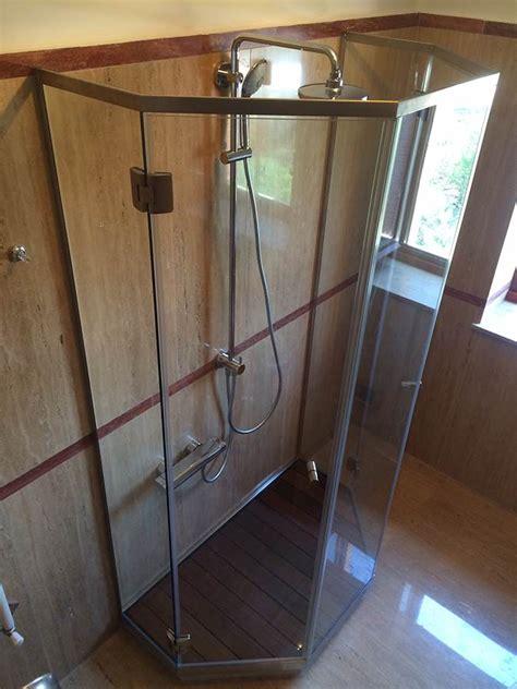 box doccia pentagonale box doccia battente linea penta con vetro pentagonale
