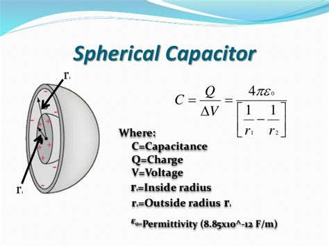 how to make a spherical capacitor capacitance and capacitor